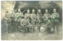 14-18.WWI Fotokarte-Deutsche Soldaten Höhle Moulen France Belgie ? Wache Karabiner Gewehr -Tolle Aufnahme ! - 1914-18