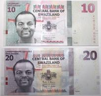 Swaziland - 10 & 20 Emalangeni - 2015/2017 - PICK 37c/41 - NEUF - Swaziland