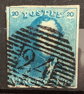 Epaulet 2 Gestempeld P24 BRUXELLES - Licht/Melkblauw - 1849 Epaulettes