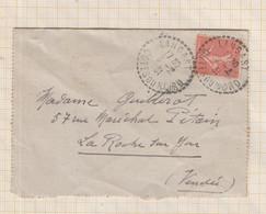 21B366 Cachet Pointillé LANGAST 1931 SUR SEMEUSE - 1921-1960: Modern Period