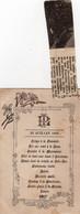 1ère Messe De L'abbé Lesprand à Vigy En 1893 - Menu Du 23 Juillet 1893 - Unclassified