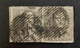 Epaulet 1 In Paar Gestempeld P24 BRUXELLES - 1849 Epaulettes