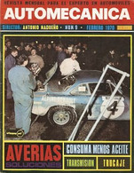 Revista Automecánica Nº 9. Febrero 1970. Automec-9 - Other