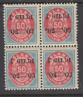 Iceland, Scott 59, MNH Block Of Four - Unused Stamps