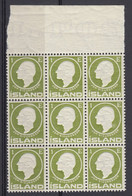 Iceland, Scott 86, MNH Block Of Twelve - Unused Stamps