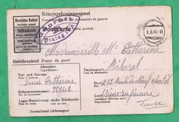 Krieg Allemagne Deutschland  Hohnstein  Stalag IV A Kriegsgefangenenlager Carte Prisonniers De Guerre Du 14 Mai 1944 - War 1939-45