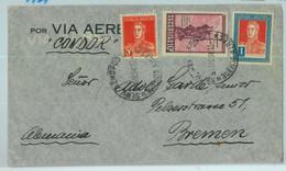 93840  - ARGENTINA - POSTAL HISTORY -  Cover To GERMANY Via CONDOR  1934 - Cartas