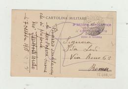 CARTOLINA IN FRANCHIGIA POSTA MILITARE DEL 1915 - TIMBRO 3 SEZIONE AEROSTATICA DA CAMPAGNA WW1 - Franchigia