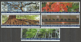 Bequia - MNH Set Of 5 Strips TREES - Arbres