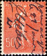 FRANCE 1926/32 - Yv.199 50c Rouge Annulation à La Plume (apparemment Usage Fiscal) - 1921-1960: Période Moderne
