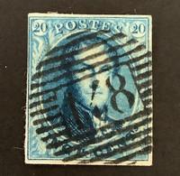 Medaillon 7 Gestempeld P148 WALCOURT - 1851-1857 Medallones (6/8)