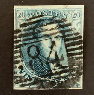 Medaillon 7 Gestempeld P84 MOUSCRON - 1851-1857 Medallones (6/8)