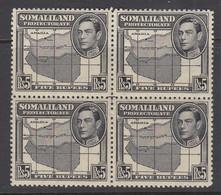Somaliland Protectorate, Scott 95 (SG 104), MNH Block Of Four - Somaliland (Herrschaft ...-1959)