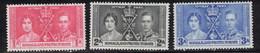 SOMALILAND PROTECTORATE Scott # 81-3 MH - KGVI Coronation - Somaliland (Herrschaft ...-1959)
