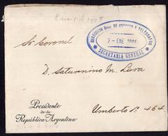 Argentina - 1905 - Lettre - Enveloppe Postale Président De La République - A1RR2 - Cartas