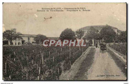 CPA Environs De Blaye Commune De St -Paul Domaine De Terre Blanche Proprietaire A Roturier Automobil - Unclassified