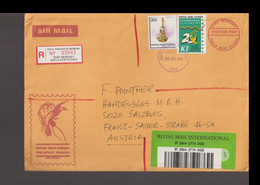 Papua New Guinea Registered Cover Posted Port Moresby 15.1.1996 To Austria (LAR10-47) - Papua New Guinea