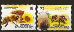 MACEDONIA 2017,FAUNA,HONEYBEES,HONEY,BEE,MI NO 799-800,,,MNH - Macedonia