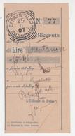 Cover Lettera Tondo Riquadrato.V.Emanuele 3'-Viaggiata Italy Italia - Marcophilia