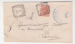 Cover Lettera Tondo Riquadrato.Umberto-Viaggiata Italy Italia - Marcophilia