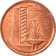 Monnaie, Singapour, Cent, 1980, Singapore Mint, TTB, Bronze, KM:1 - Singapore