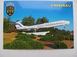 Moldova Chișinău Monument Plane Tupolev Tu-134A-3 Modern PC - 1946-....: Era Moderna
