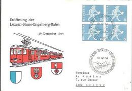 POSTMARKET  1964  LUZERN-STANTS-ENGELBERG.BABN - Briefe U. Dokumente