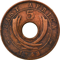 Monnaie, EAST AFRICA, George VI, 5 Cents, 1943, TTB, Bronze, KM:25.2 - British Colony