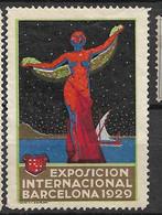 Espagne  Vignette Exposition Internationale Barcelone 1929   Neuf * *  B/ TB        Voir Scans      Soldé    ! ! ! - Cartas