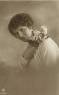 Portrait Jeune Femme Rose Sur L'epaule   RV Beau Cachet à Voir - Women