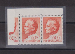 YUGOSLAVIA,  TITO 0,05 Din Printed On Margin  MNH - Unused Stamps