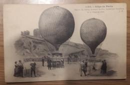 Carte Postale Siège De PARIS Départ Du Ballon ARMAND BARBES Monté Par Gambetta Le 11 Octobre 1870 - Otras Guerras