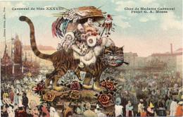 06 Carnaval De Nice XXXVIII - Char De Madame Carnaval. Gros Chat - TBE - Carnival