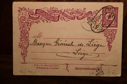 1903 CPA Ak Entier Turquie Turkey Türkei LEVANT Empire Ottoman Voyagée Alep Syrie Liège Belgique - Cartas