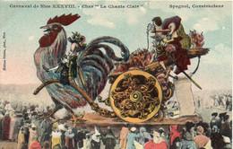 """06 Carnaval De Nice XXXVIII - Char """" Le Chante Clair """". Grand Coq - TBE - Carnival"""