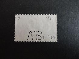 TIMBRE DE FRANCE N°782  PERFORE VB 9 - Perfins