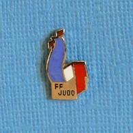 1 PIN'S //  ** F.F.JUDO / FÉDÉRATION FRANÇAISE DE JUDO ** - Judo
