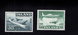 1201643524 1959  SCOTT C30 - C31 (XX)  POSTFRIS  MINT NEVER HINGED EINWANDFREI - AERPLANES - Airmail