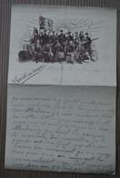 Guerre 1914-1918 - Courrier à Entête Illustrée (différents Soldats Des Armées) Du 01 Février 1916 - 1914-18