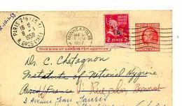 C 9  1958  Entier Américain Pour Hopital De La Maison Blanche à Neuilly - Cartas
