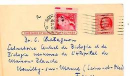 C 9  1956  Entier Américain Pour Hopital De La Maison Blanche à Neuilly - Cartas