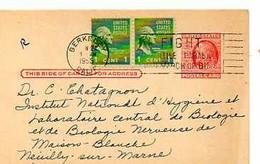 C 9  1955  Entier Américain Pour Hopital De La Maison Blanche à Neuilly - Cartas