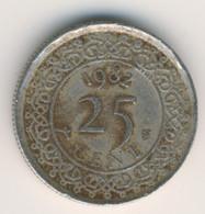 SURINAME 1982: 25 Cent, KM 14 - Surinam 1975 - ...
