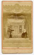 Ancienne Carte De Visite. Théâtre De Marionnettes. Pupazzi. Italie. Guignol. - Métiers