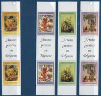 "Polynésie YT 422A  à 425A Paire Vignette "" Artistes Peintres En Polynésie "" 1992 Neuf** - Nuevos"