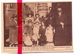 Orig. Knipsel Coupure Tijdschrift Magazine - Lier - Hongaarse Kinderen Keren Terug - 1924 - Unclassified