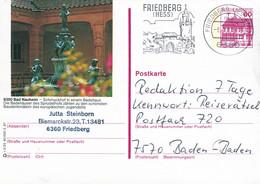 84539) BRD - P 138 R2/25 - 6360 ⨀ 6350 Bad Nauheim, Schmuckhof In Einem Badehaus - Postales Ilustrados - Usados
