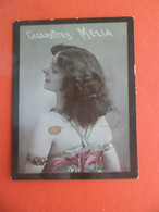 Photo CHROMO EROTIQUE FEMME Tabac  Cigarettes MELIA ALGER Algerie 1900 - ISIS - Melia