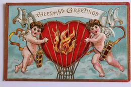 Anges - Gaufrée - Valentine Greetings - Angels