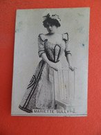Photo CHROMO EROTIQUE FEMME Tabac  Cigarettes  ALGER Algerie 1900 - Mariette Sully - Melia